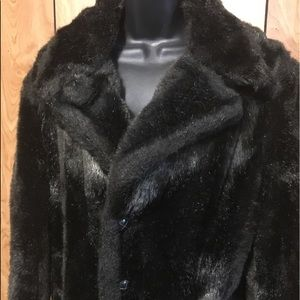60's Full Length Faux Fur Coat Chocolate Brown